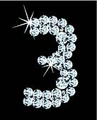 Diamond alphabetic figure . Vector
