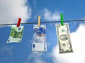 Hanging money