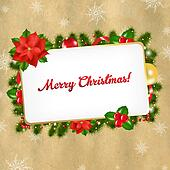 Christmas Vintage Blank Gift Tag