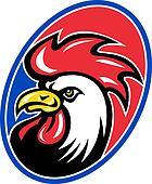 rooster cockerel head facing side
