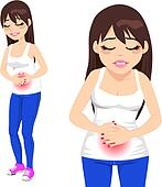 Girl Having Stomachache