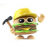 3d Burger builder