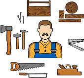Royalty Free Carpentry Tools Clip Art - GoGraph
