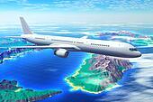 Scenic airliner flight