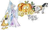 Cinderella and fairy godmother