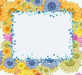 Bright spring floral greeting card