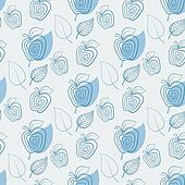 Seamless pattern with apple.Apple,white,leaf.