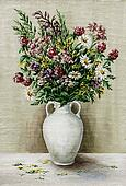 Wild flowers in a white amphora
