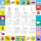 2012 Calendar with toys