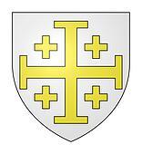 Jerusalem cross on shield