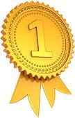 Golden award ribbon first place