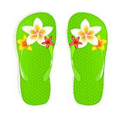 Flip Flops With Flowers