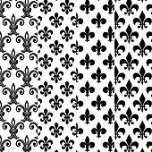 Fleur de lys patterns