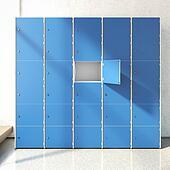 Locker Room. 3d rendering