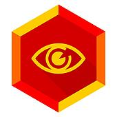 eye flat design modern icon