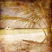 Ship under Palm