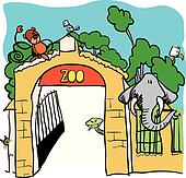 Zoo Clip Art - Royalty Free - GoGraph