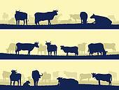 Horizontal banners of farm pets.