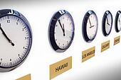 Timezone clocks.