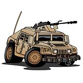 Military Truck Illustration