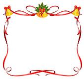 christmas frame from ribbons