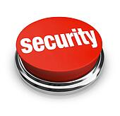 Security Words on Round Red Button