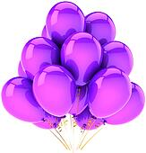 Party balloons decoration purple