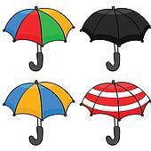 Cartoon umbrellas