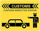Customs sign