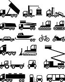 Transportation - vector icons