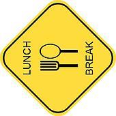 Lunch break - vector icon