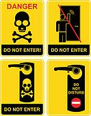 Do not enter - sign