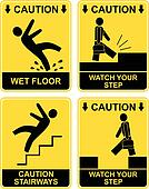Falling man - caution sign