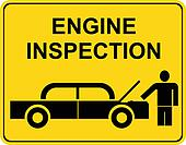 Engine inspection - sign