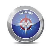 equal pay compass sign illustration