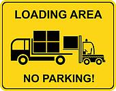 Loading area - no parking