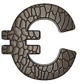 Alligator skin font Euro currency symbol