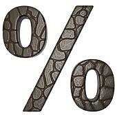 Alligator skin font percent symbol