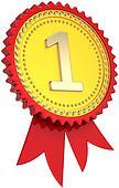 First place golden award ribbon