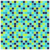 Blue, aqua and green glass tiles