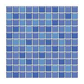 Purple and blue glass tiles