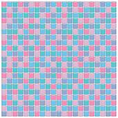 pink, blue, green and purple glass tiles