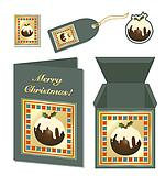 Christmas pudding stationery
