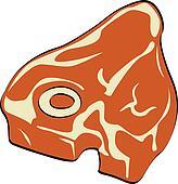 Steak, Meat or Butcher\'s T-Bone Cut