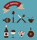 Bon Appetit Icon Set