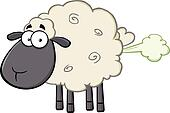Black Head Sheep With Fart Cloud
