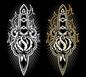 Dagger with rose design