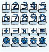 Numbers blue