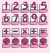 Numbers pink