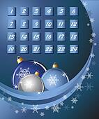 Advent Calendar blue